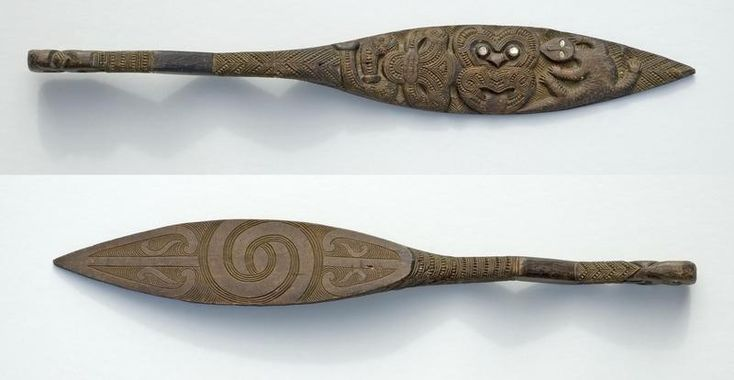 Totara Hoe (waka paddle), 1860's - 1890's, X001.33.2