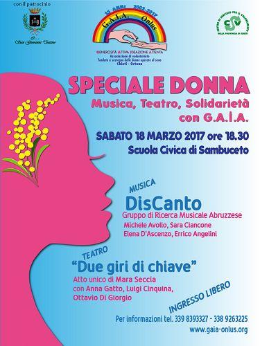 Speciale Donna il 18 marzo alla Scuola Civica Musicale di Sambuceto