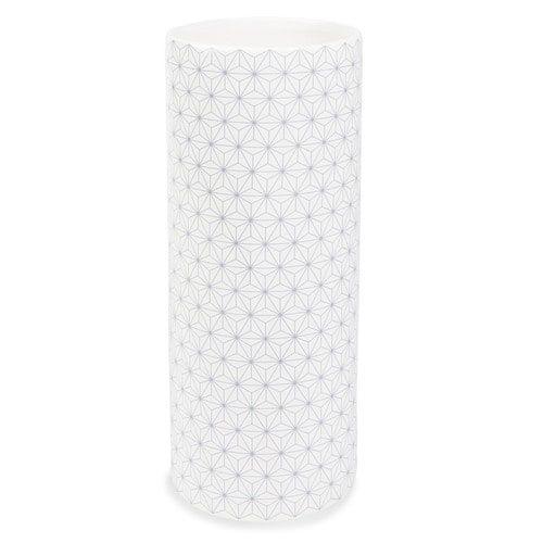 GRETCHEN ceramic vase H 25cm, white/grey