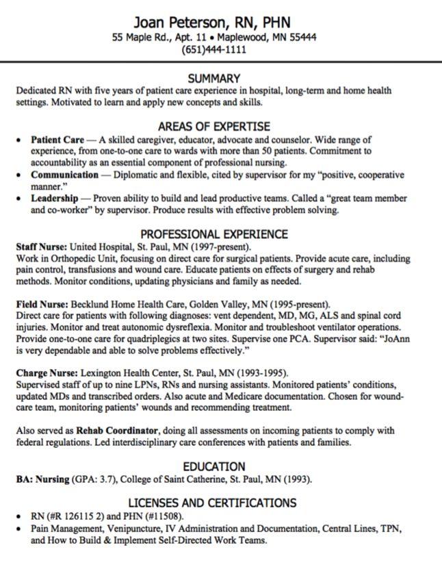 Pin By Latifah On Example Resume CV Rn Resume Sample Resume Nursing Resume