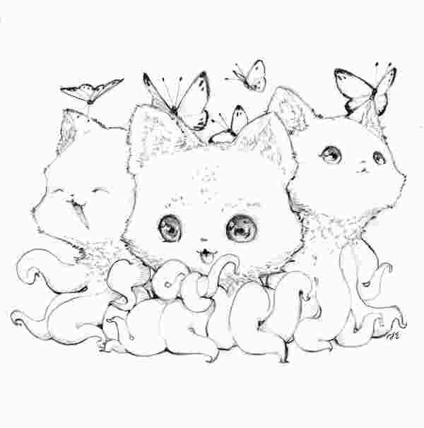 Tentacle Kitty Coloring Book Kitty Coloring Cat Coloring Book Coloring Books