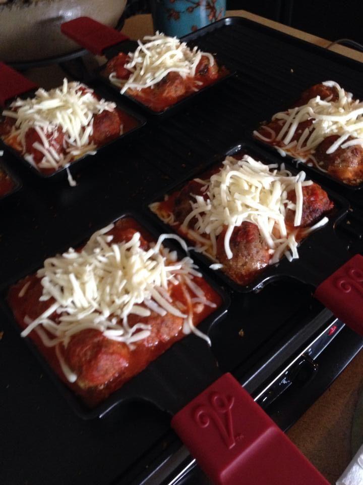 Velata Raclette meatball subs. Very easy to make! Yum! https://kaylarogers.velata.us