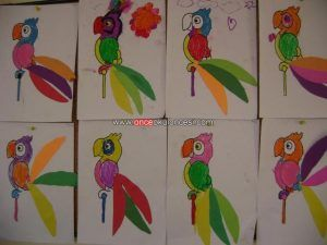 Parrot craft idea for kids | Crafts and Worksheets for Preschool,Toddler and Kindergarten