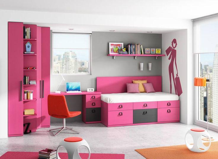 Aqu os dejamos una foto de una habitaci n juvenil en for Compactos juveniles baratos
