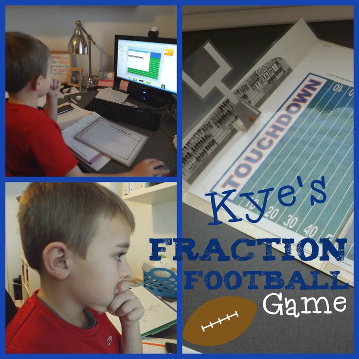 Looking for a fun football game to play and squeeze in some learning?  Comparing fractions is the goal of this game.  Kye's Fraction Football Game ($).  CCSS  3.NF.3d