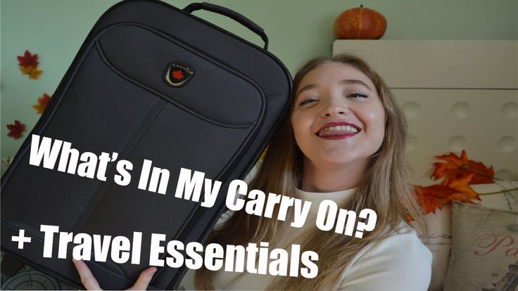 What's In My Carry On? + Travel Essentials ♥