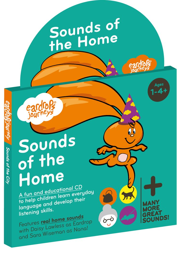 Eardrop's Journey: Sounds of the Home, a half hour fun story for young children that features 30 real world sounds to learn. Featuring Sara Wiseman as 'Nana' and Daisy Lawless as 'Eardrop'