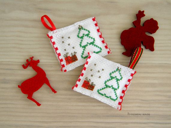 Christmas ornaments set of two christmas decoration by prosinemi