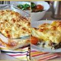 Как приготовить сливочно - сырная запеканка с грибами и картофелем  - рецепт, ингредиенты и фотографии