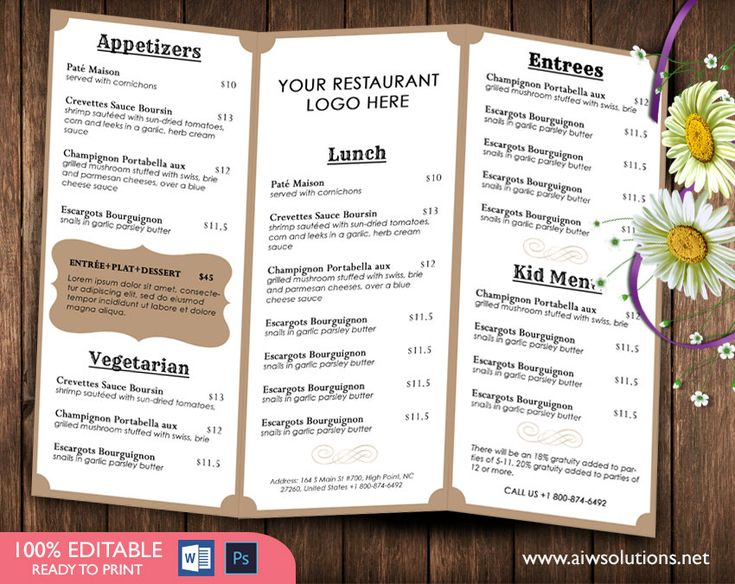 17 best ideas about french restaurant menu on pinterest for Fish and chip shop menu template