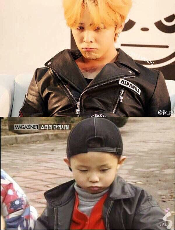 G-Dragon Now vs Then  Still Cute ❤️ #GDragon #KwonJiYong #권지용