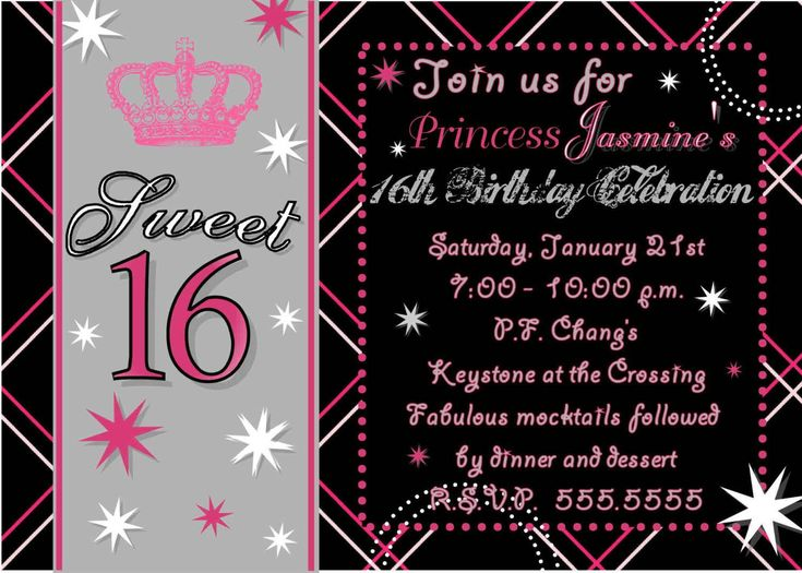 101 best images about Birthday Party Invitations – Sweet 16 Party Invitations Templates Free