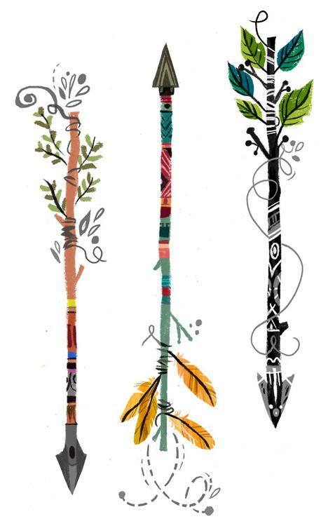 Flèches, Nature et Couleur.