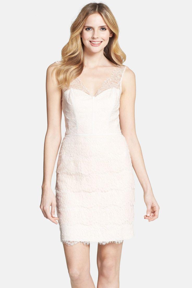 ML Monique Lhuillier Lace Sheath Dress by ML Monique Lhuillier Bridesmaids on @nordstrom_rack