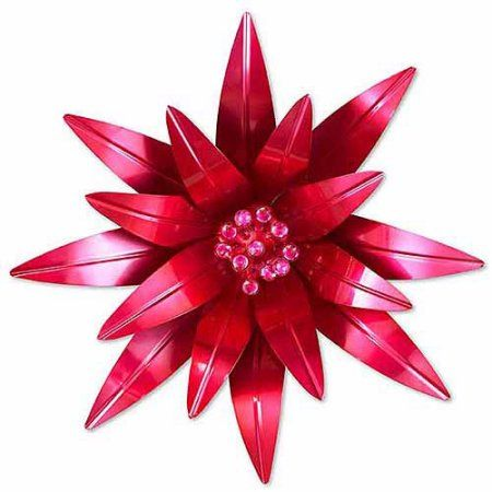 pink metal flower wall decor