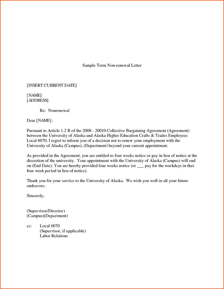 Luxury Agreement Renewal Letter Images  Complete Letter Template