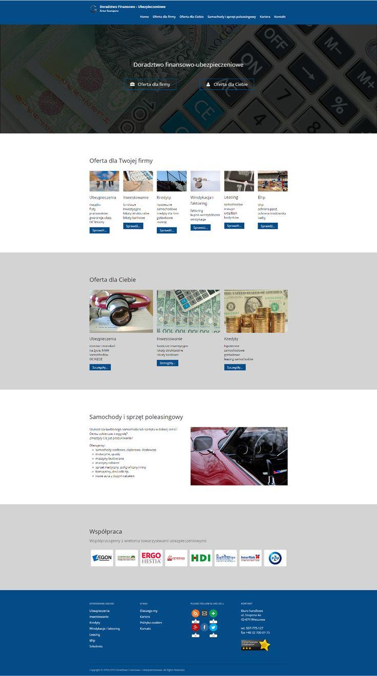 Strona internetowa - Doradztwo Finansowo-Ubezpieczeniowe Artur Szampera #stronywww #wordpress
