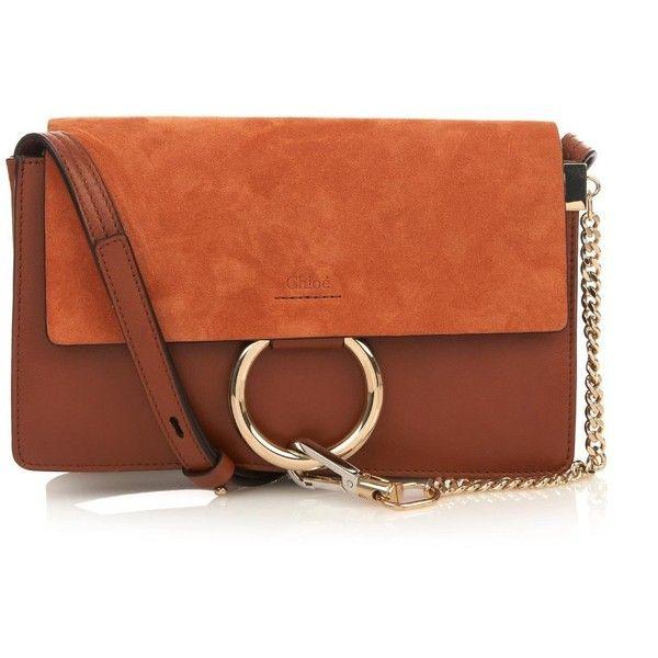 Chloe Faye Small Suede \u0026amp; Leather Cross-Body Bag (\u20ac1.490) ? liked ...