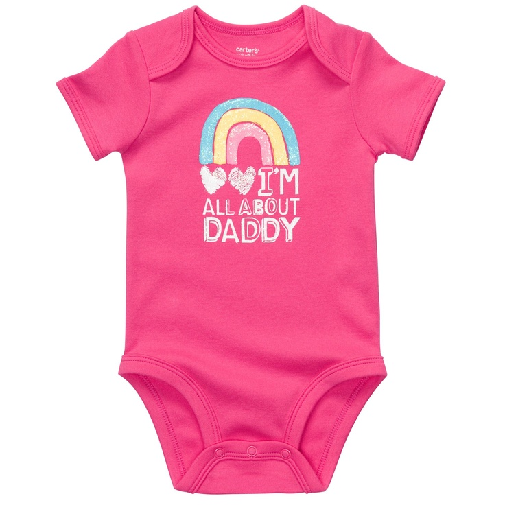 """Baby T is now the owner of this onesie... and Mama learned how to get Daddy's approval on any baby-clothing purchase whatsoever... now I just have to find out where to find every single item of baby girl clothing that says anything about """"Daddy"""" on it... ;): Mr. Price,  T-Shirt, Mrs. Carter, Daddy Onesie, Carter Wiggle,  Tees Shirts, Baby Girls Clothing, Daddy Bodysuit, Daddy Girls"""