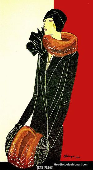 Jean Patou 1920s (1880-1936) French Fashion Designer born in Normandy. http://headtotoefashionart.com/jean-patou-1880-1936/
