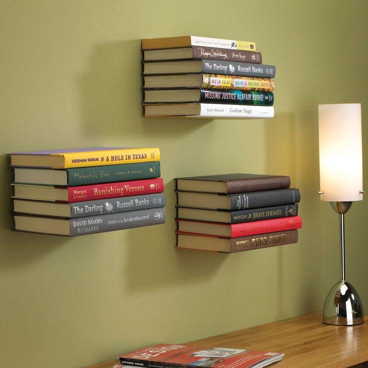 different!: Decor, Ideas, Invisible Bookshelf, Books Shelves, Books Shelf, Book Shelves, House, Floating Bookshelves, Floating Bookshelf