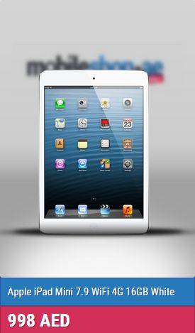 Apple iPad Mini into an even more compact package, sacrificing nearly nothing. It's a terrific smaller tablet, one of the cheapest Apple Tablet .  http://mobileshop.ae/apple-ipad-mini-7.9-wifi-4g-16gb-white