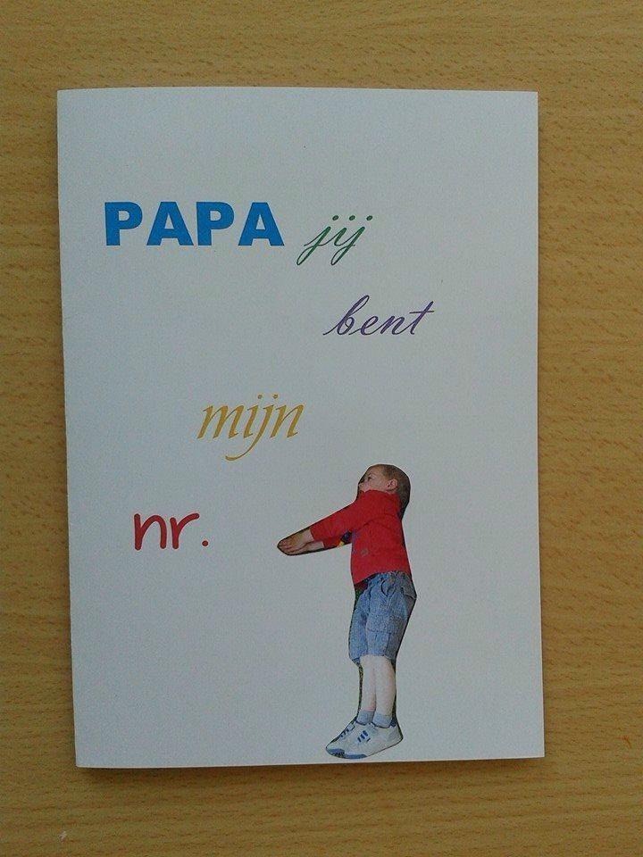 Vaderdagskaart nr 1 (maar dan letters laten stempelen door de kinderen zelf)