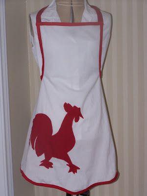 Yarni Gras!: Rooster apron