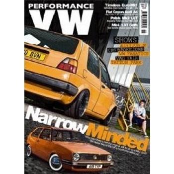 PERFORMANCE VW zeigt alles, was die für die Autos aus Wolfsburg in Sachen Tuning möglich ist. Detaillierte Bilder der umgestylten Modelle und spannende Berichte der Fahrer machen PERFORMANCE VW zu einem interessanten Magazin für autobegeisterte Leser. Wer wissen will, wie aus einem einfachen Golf oder auch aus einem Audi A4 eine heiße Rennmaschine wird, kommt um diesen Titel nicht herum.