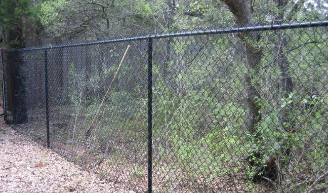 6 ft black chain link fence