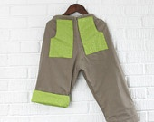Reversible Tan and Green Shorts with Pockets. $30.00, via Etsy. From Little Ra's. #DEAF2012