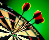 Which number appears on the bottom of a standard dartboard?  A) 3 B) 7 C) 11 D) 19
