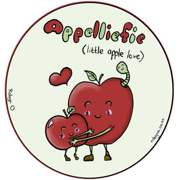 Appelliefie (Gooseberry)  - Cute Illustrations of Directly Translated Afrikaans Words by RobynO (Me) BoredPanda