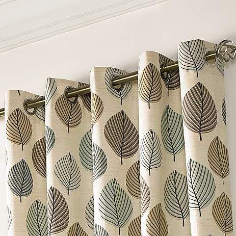 Regan Duck-Egg Lined Eyelet Curtains | Dunelm