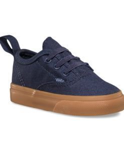 Vans | Authentic V Lace Parisian Night | Toddler These classic Authentic V Lace Vans kids shoes have taken the classic Vans skate shoes look and updated it – so if you have no time to lace then no worries!