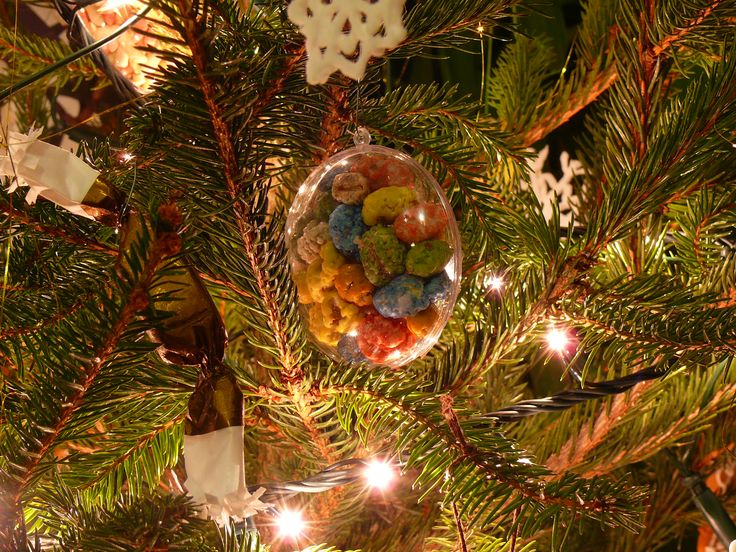 Edible Christmas ornaments.  Just buy a plastic ornament and fill it some candy or nuts. Yummy.