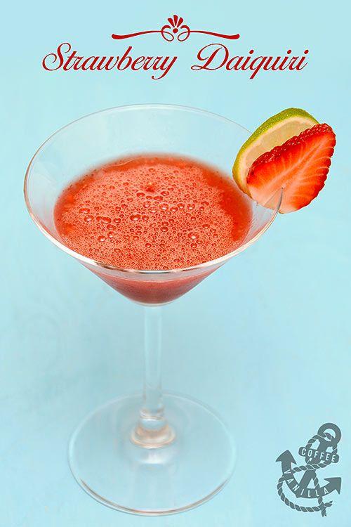 Classic Strawberry Daiquiri Recipe for the Valentine's Day