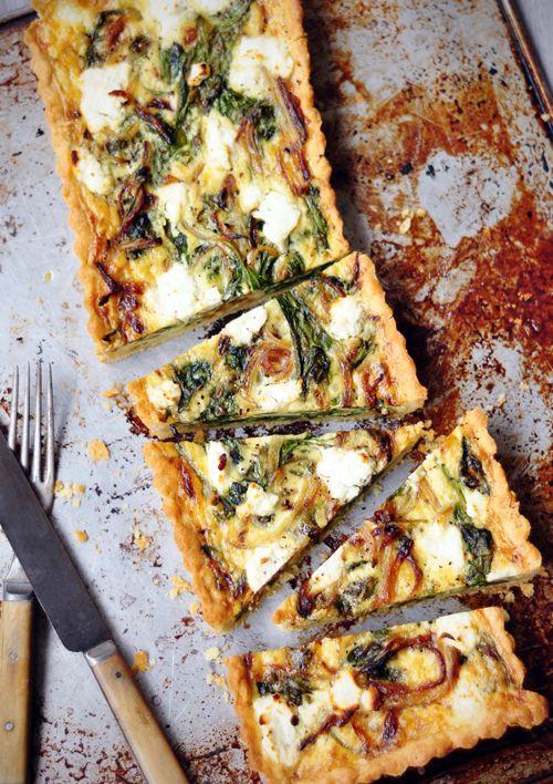 spinach + feta tart
