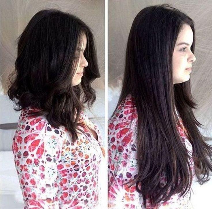 Penteados impressionantes para idéias de cabelo preto quente (26