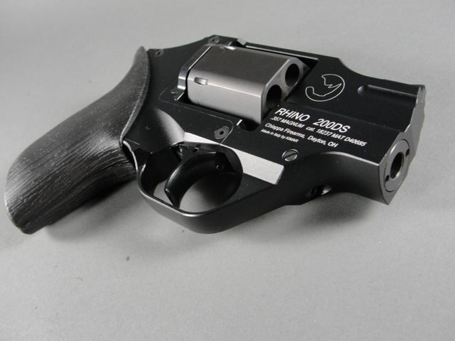 Rhino 200DS - I'd love to shoot this gun. The barrel is lowered to align with the lowest point of the revolver which makes the recoil extremely minimal. Nice.