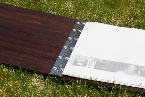 """Portfolio Book: Made-From-Scratch: I used continuous hinges on the inside, 12"""" long, and 1/4"""" screw posts, both from Lowe's. studio3twenty.com"""