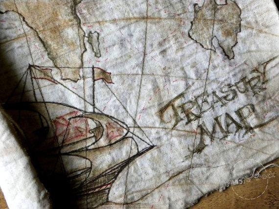 KERST SALE De kaart van de schatkist  NauticalArt door PrivateDock