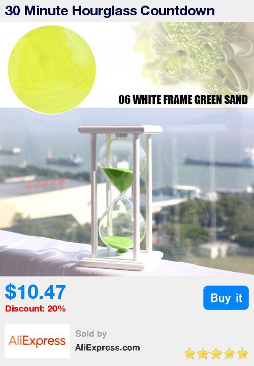 30 Minute Hourglass Countdown Timing Wooden Sandglass Sand Hourglass Timer Clock Home Decor #94655 * Pub Date: 03:56 Jul 13 2017