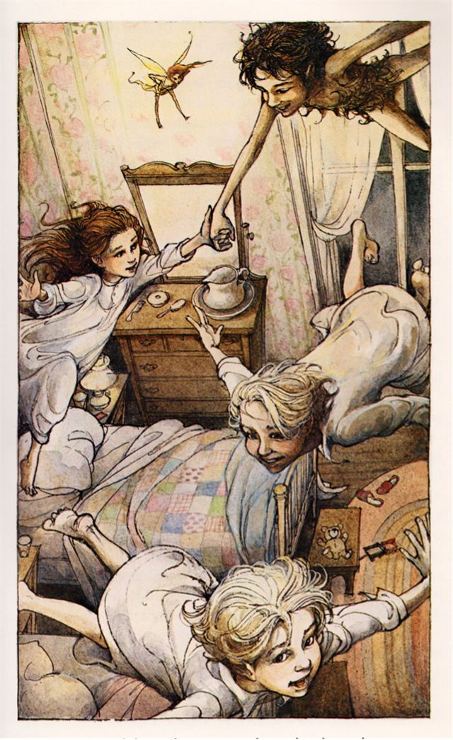 Peter Pan by J.M. Barrie, illustrated by Trina Schart Hyman (1980).