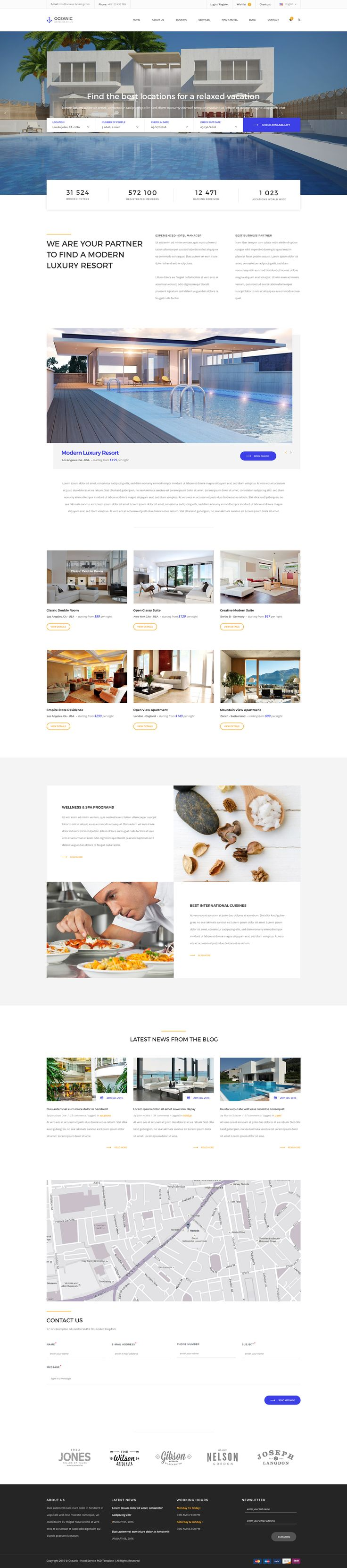 wedding invitation template themeforest%0A Oceanic  Hotel Booking PSD template