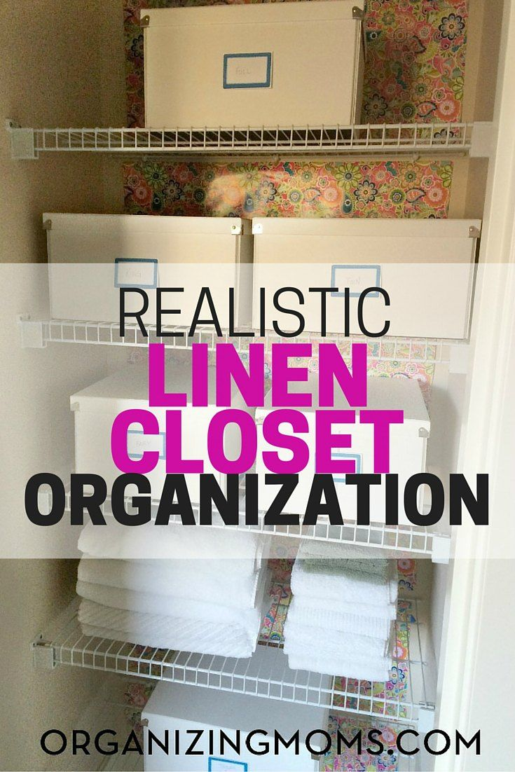 63 best Organizing the Linen Closet images on Pinterest | Linen ...