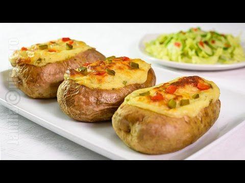 Cartofi umpluti la cuptor reteta video | JamilaCuisine