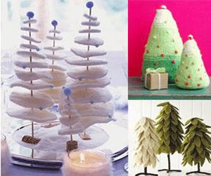 miniature christmas trees and crafts, activities for kis, craft and art projects for winter holiday