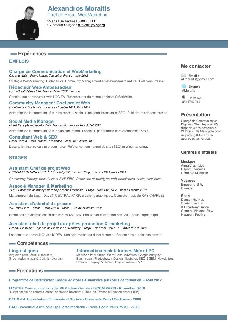 actuellement en recherche active d u0026 39 un poste de chef de projet web    community manager sur paris