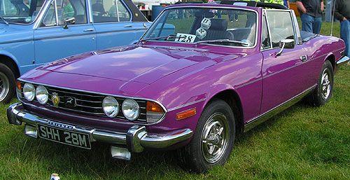 1974 triumph stag Mk II in purple...dream car!